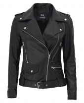 Black Asymmetrical Leather Jacket