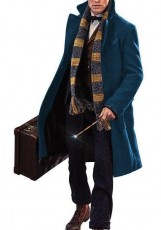 long blue teal coat