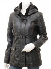 Womens 3 4 Length Leather Coat
