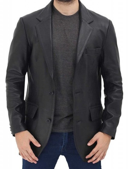 Mens Black Blazer Jacket