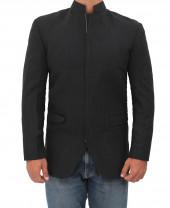 black wool coat for men