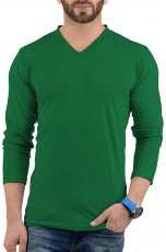 long sleeves green t shirt