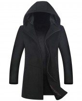 Wool Blend Coat with Hood