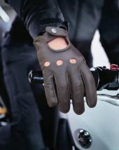 Brown Leather Gloves Men