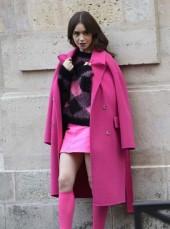 Emily in Paris Pink Coat