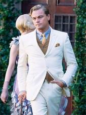 Leonardo Dicaprio Great Gatsby Suit off white suit