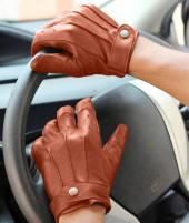 Mens Leather Tan Gloves