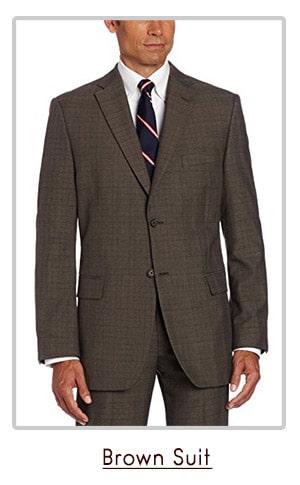 brown classic suit
