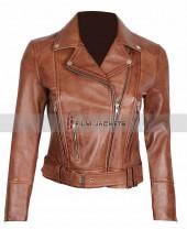 brown motorcycle jacket