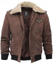Brown Shearling Jacket Mens