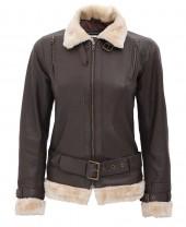 Shearling Aviator Jacket Womens