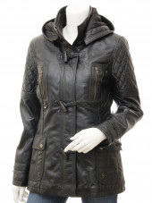 Black Trench Coat With Hood Mens