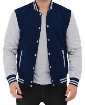 navy varsity bomber jacket